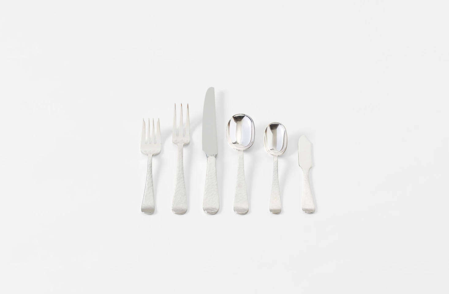 In a design made by famed silversmith Allen Adler, the Round End Flatware was created in the 40s out of Adler&#8
