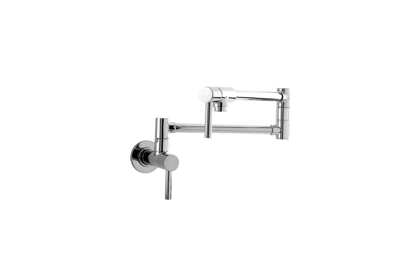 The Newport Brass Pot Filler Wall Mount comes in  different finishes; $590 at Plumb Tile.