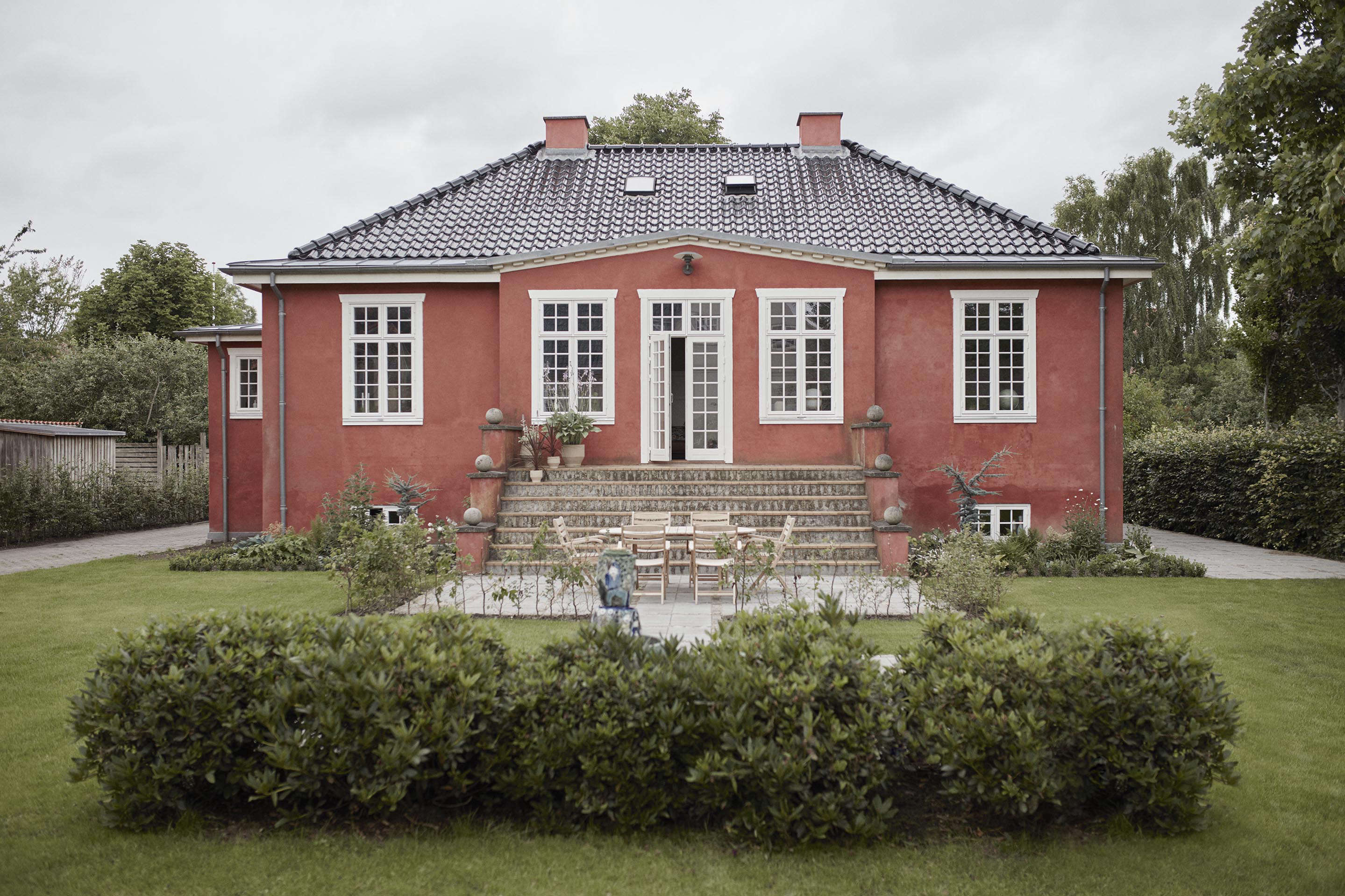 Little Pink House: A Creative Couple's Classic-with-a-Twist Home in Denmark - Remodelista
