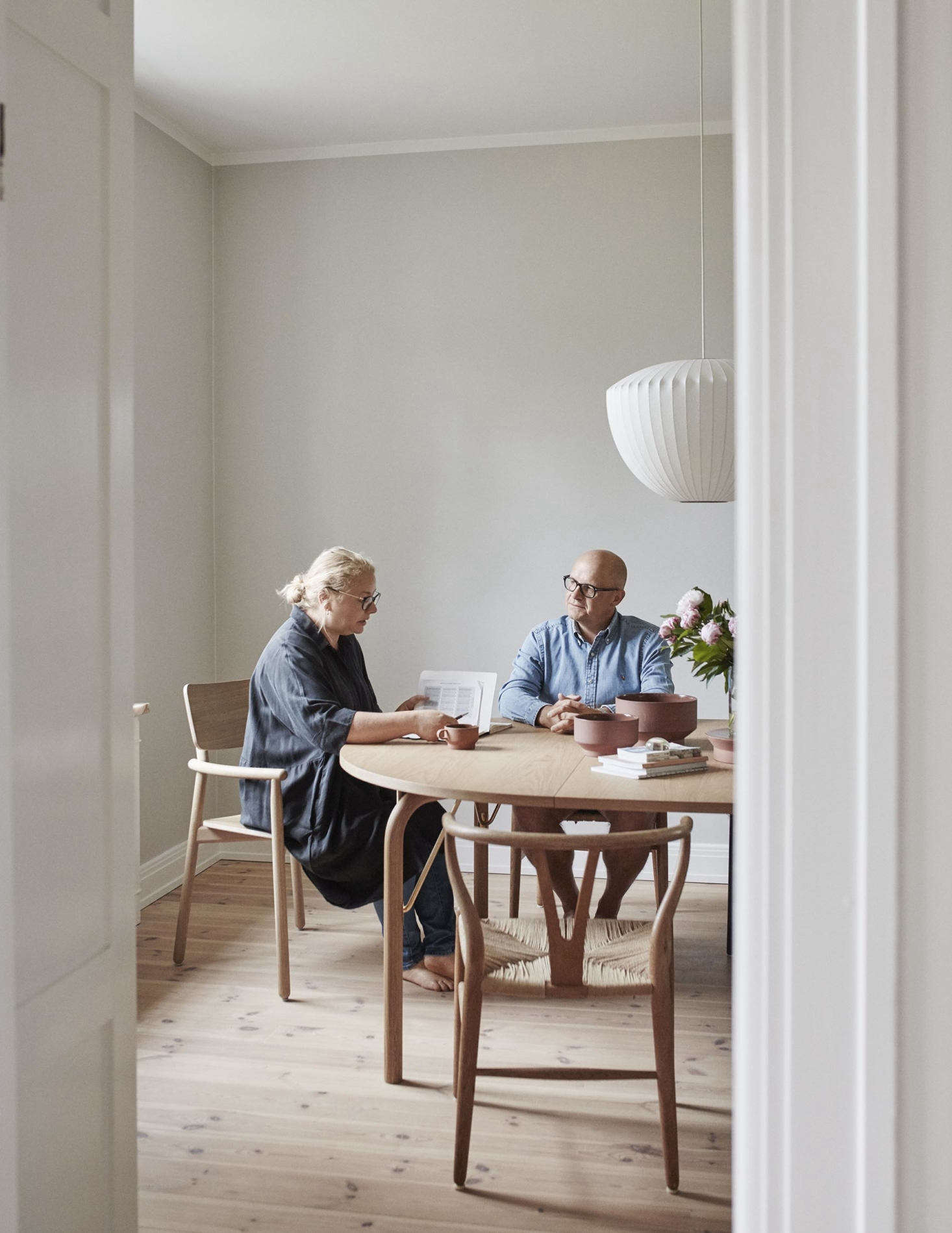 Jesper and Vibeke, in the dining room.