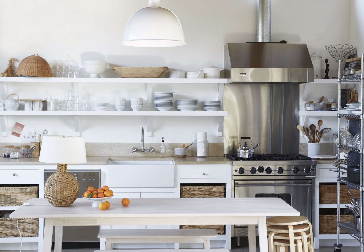Kitchen of the Week: A Photographer's Flexible Studio Kitchen in Ojai Valley (And an Outdoor Shower, Too)