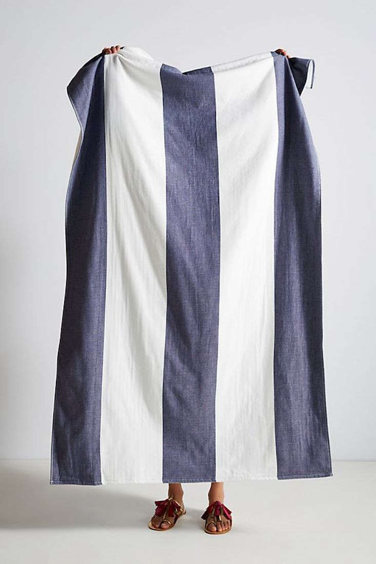 The Block Striped Beach Towel from Anthropologie is $37.50 (down from $50); available in five colors, including indigo (shown above).