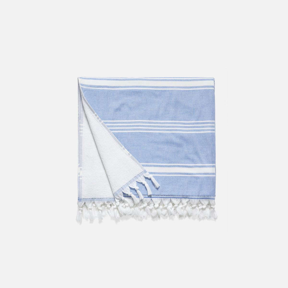 Brooklinen's Turkish cottonHammam Towel is $65 and is available in five colors (shown above in Atlantic); $65.