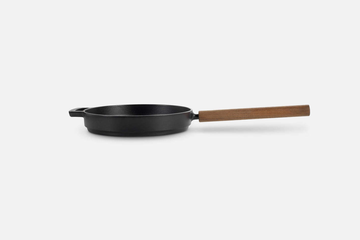 The Combekk Railways 11-Inch Cast Iron Fry Pan is made in the Netherlands of recycled iron and an FSC-certified wood handle; $175 at Williams-Sonoma.