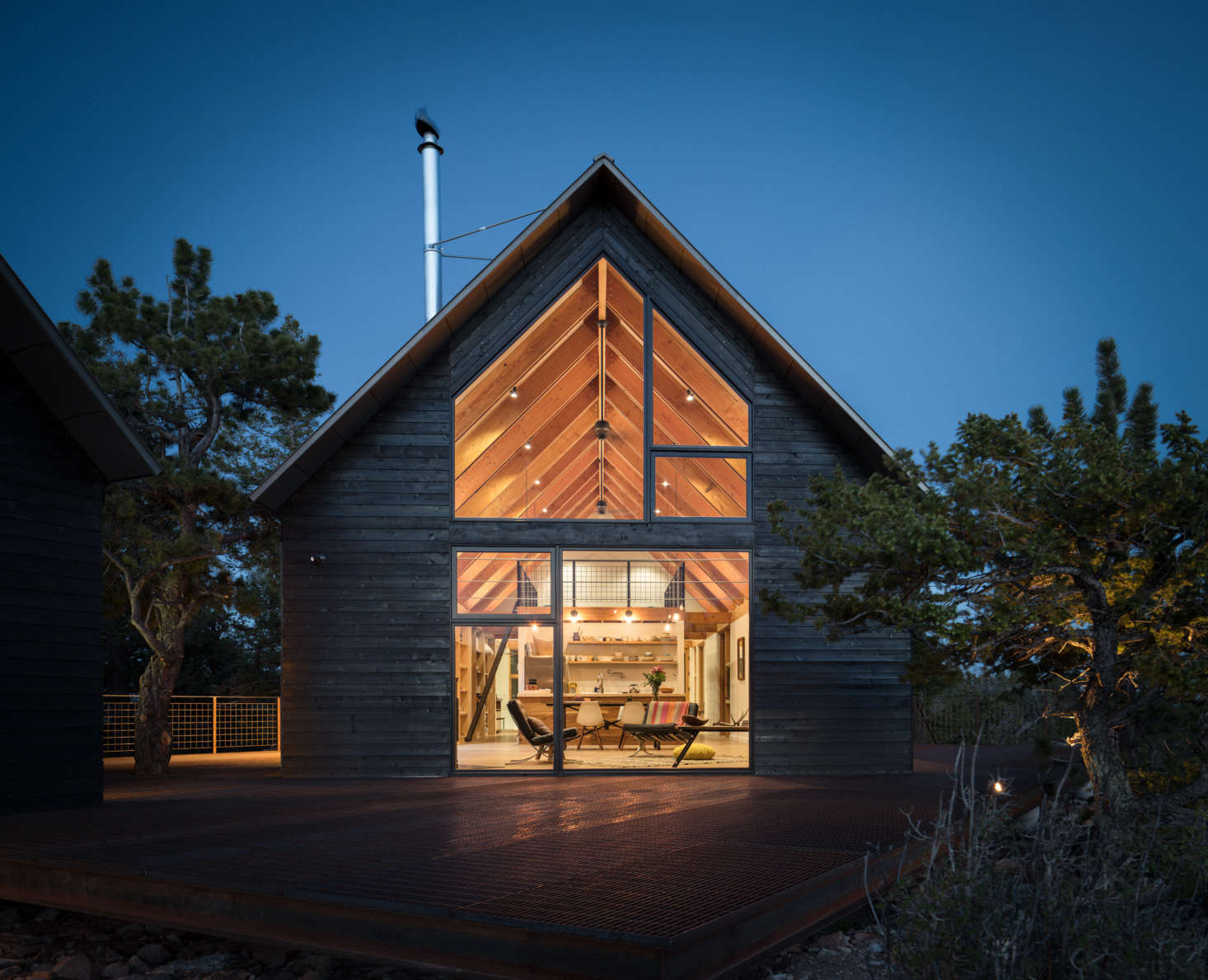 """""""Believe me, this is the first modern cabin in Fairplay,"""" says Blum. Initially, she looked into buying property in Breckenridge and Vail, but fell in love with the idea of being in a remote—and much more affordable—corner of Colorado."""
