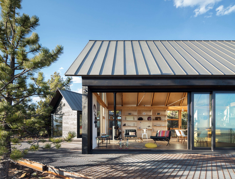 Big Windows, No Logs: A Modern Cabin Compound in Colorado