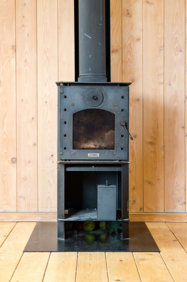 George and Willy urban cabin second hand wood stove.