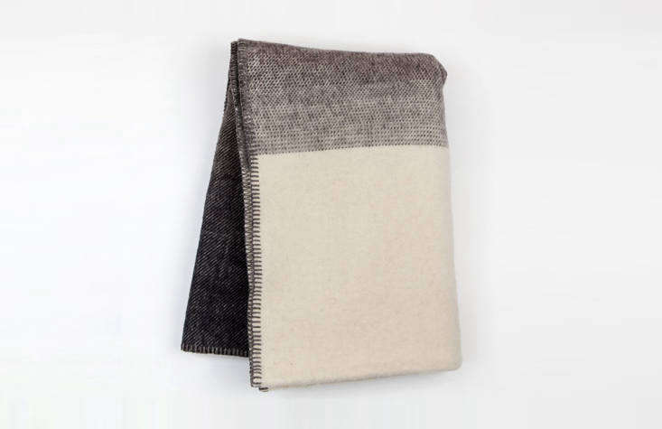 Francesca let us know that Canoe, a longtime favorite, offers a registry; shop there for simple goods to outfit the home, like this Imperial Ranch Throw Blanket, $150, made in Oregon.