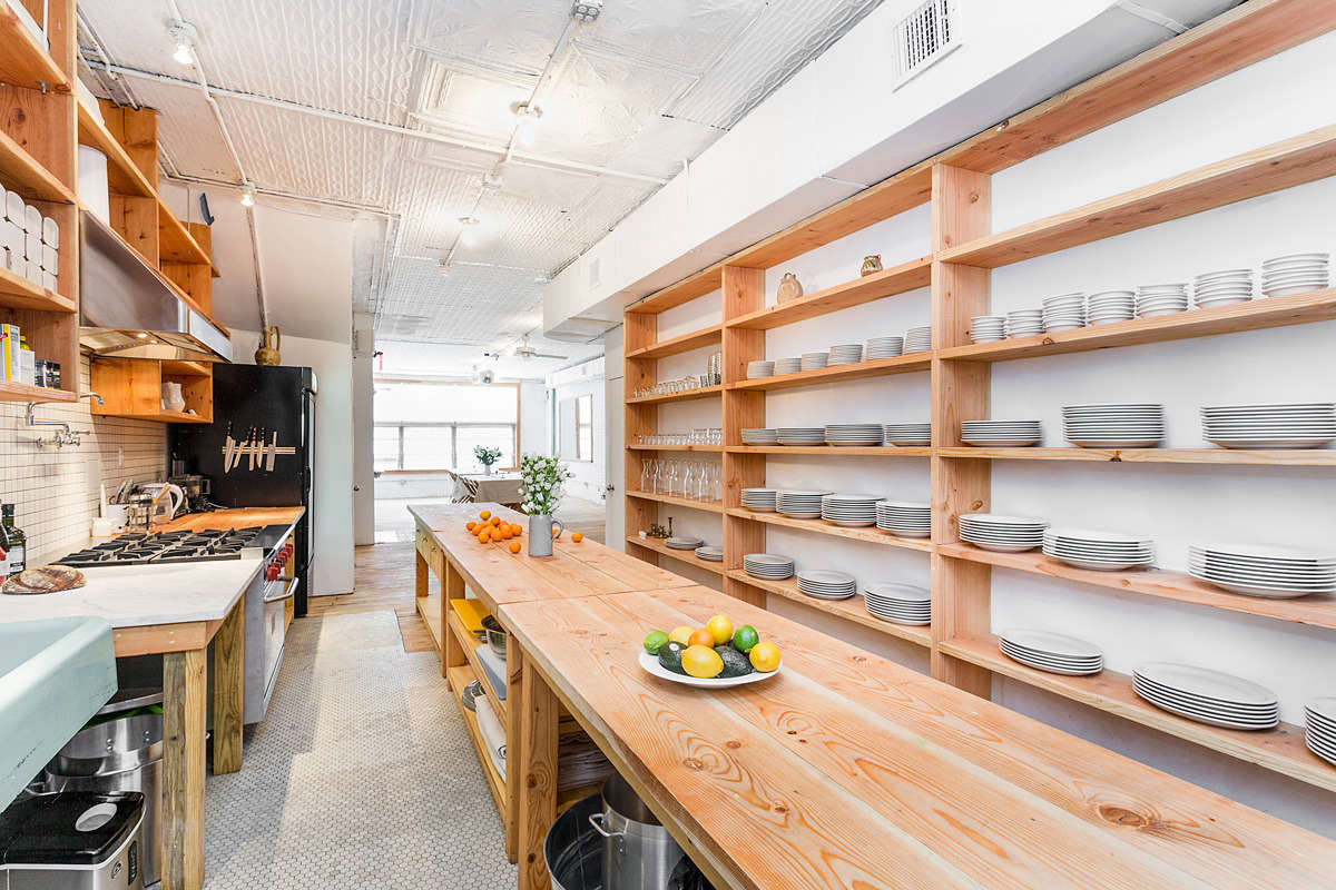 """Poe looked to Balter Sales, on the Bowery, to provide the basic white plates and bowls. """"They have a great selection of dinnerware and glassware. Ask for our girl Adriana."""""""