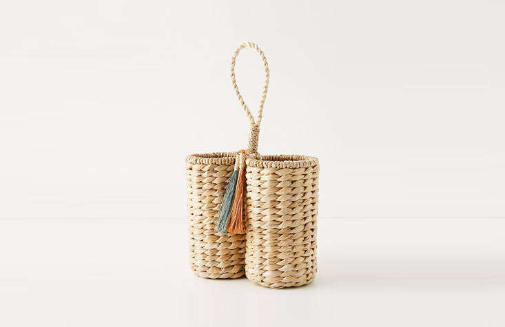 Anthropologie has an increasingly good selection of housewares—and a registry. The Mavis Wine Caddy, $78,might make a jaunty gift for a more casual summer affair.