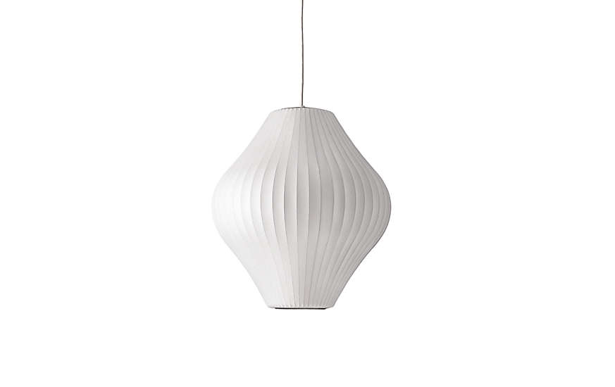 For lovers of design classics, DWR offers a stellar selection—and a registry. We think a classic light would make a nicely symbolic gift for the start of a marriage; consider this Nelson Pear Pendant Lamp, from $395.