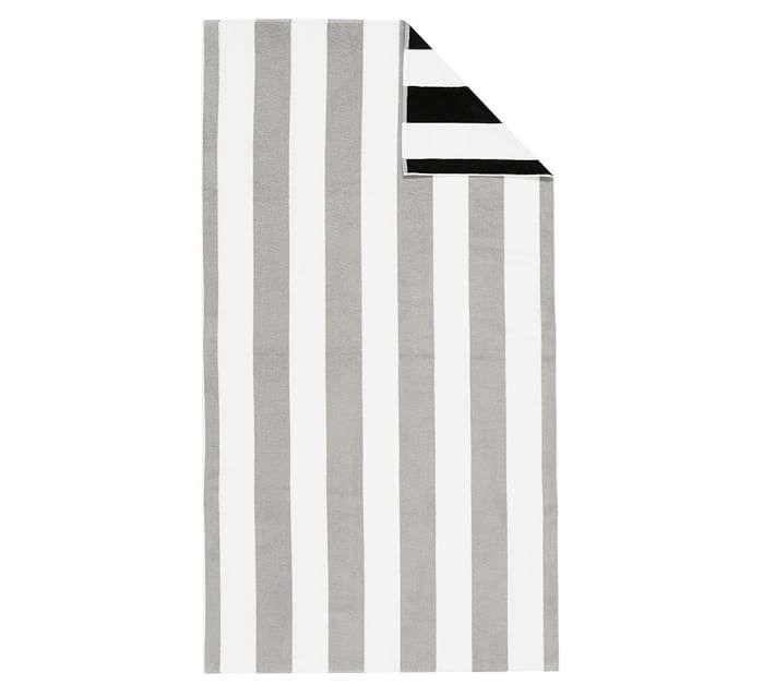 The Reversible Awning Stripe Beach Towel is available in three colorways and is currently on sale at Pottery Barn for $34 (down from $49.50).