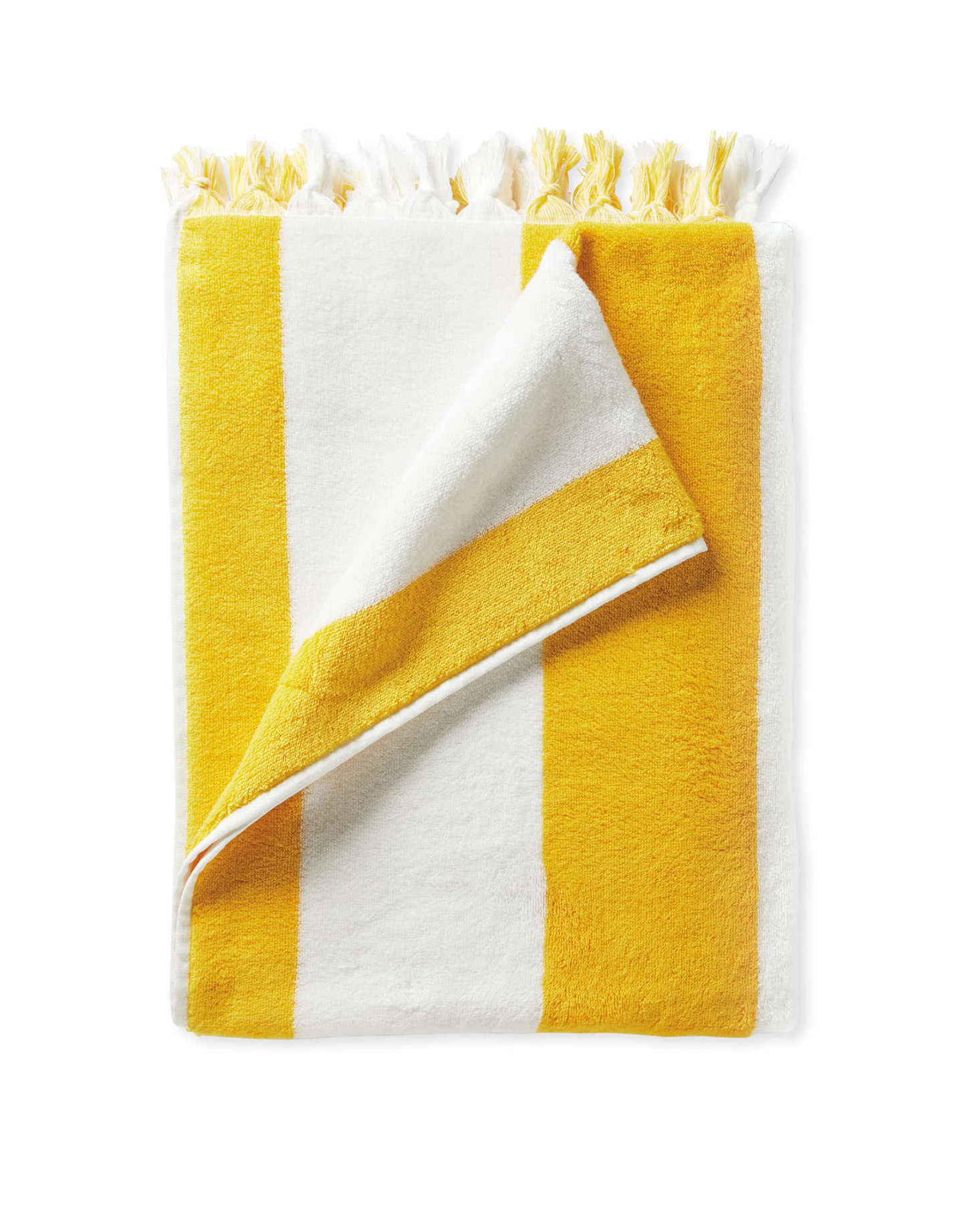 Serena & Lily's Turkish cotton striped Mallorca Towel comes in five colors (including Canary (shown above); $58.