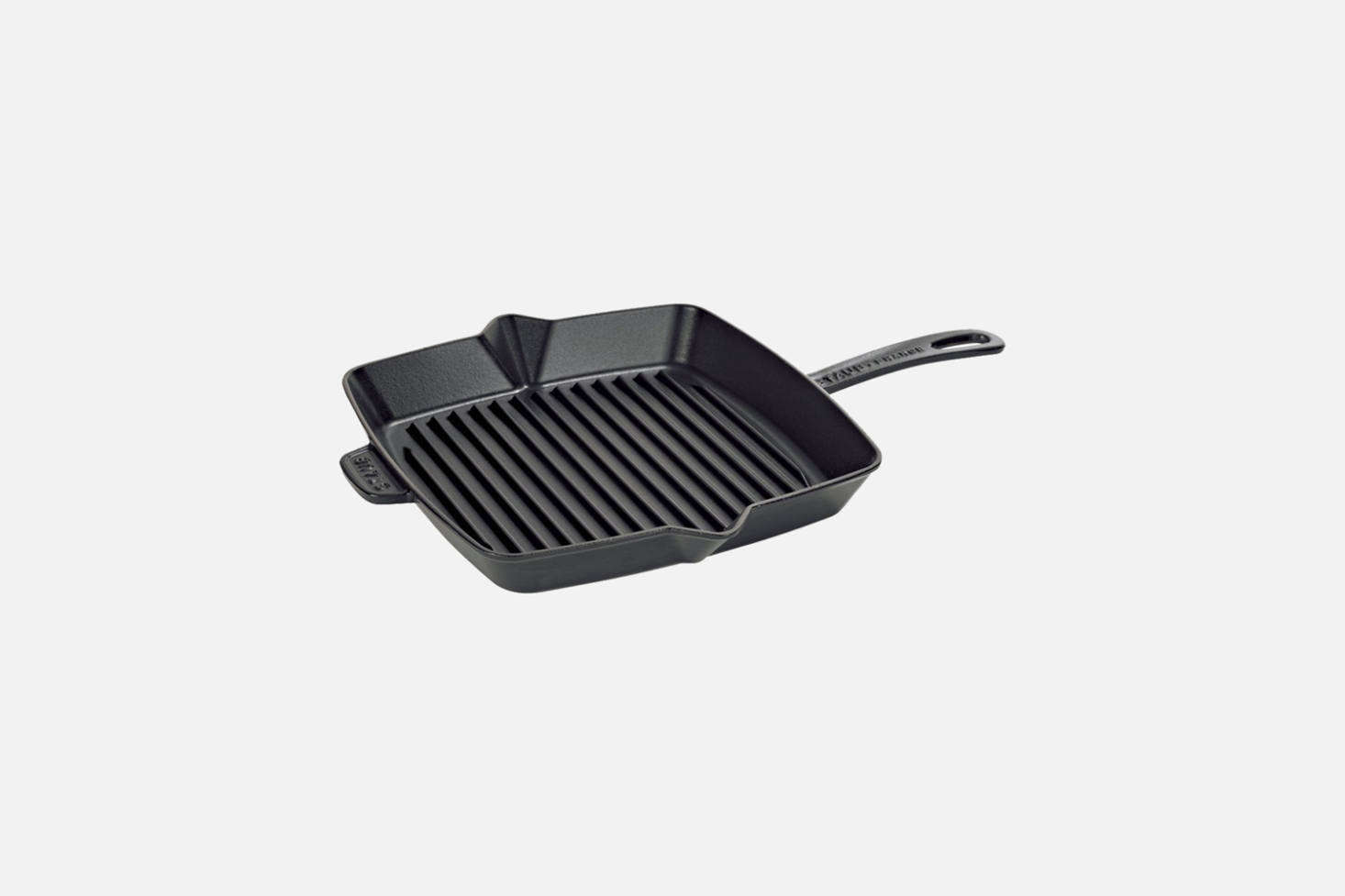 The Staub 12-Inch Cast Iron Square Grill Pan in Black is $160 at Amazon. The brand offers a wide collection of other enameled cast iron cookware pieces available on Amazon and at Williams-Sonoma or Sur La Table. The pan is one of five featured in our post 5 Favorites: The Indispensable Grill Pan.
