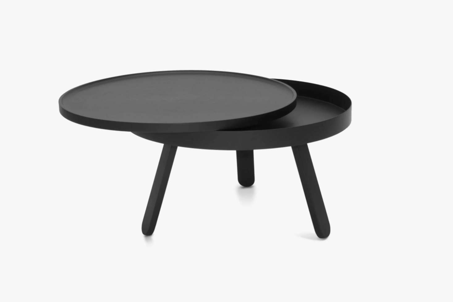 The Woodendot Batea M Coffee Table with Storage comes in eight different color combinations (shown in Black/Black Ash) for £251.99 at Clippings.