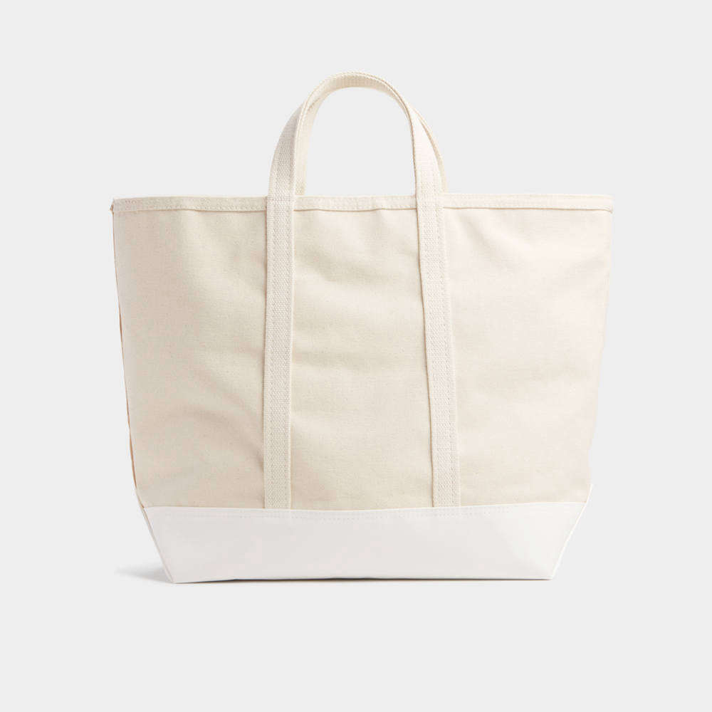 Reminiscent of L.L.Bean's classic Boat & Tote bags, Best Made's Coated Canvas Tote features heavy-duty 18 oz. cotton canvas coated with TPU for all-weather utility and is available in two sizes (shown is the small); from $128.