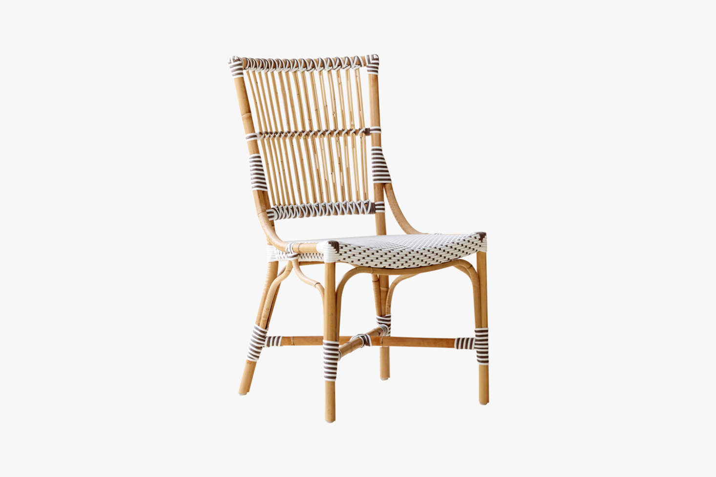 The Cappuccino Dot Monique Rattan Side Chair is $368 from Dear Keaton. It's made of rattan and synthetic fiber by Sika Design, which offers a range of bistro furniture that the company sells directly and through a number of retail sources.