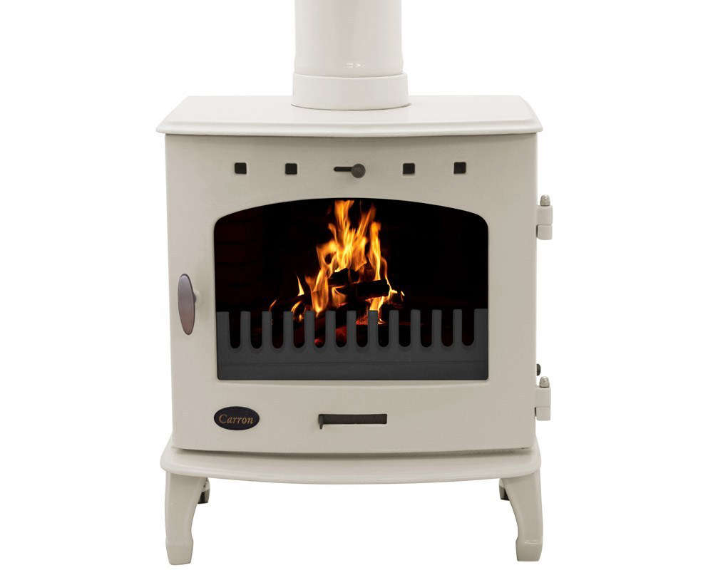 The Cream Enamel Wood-Burning Stove from UK-based Carron Stoves is £912.50.
