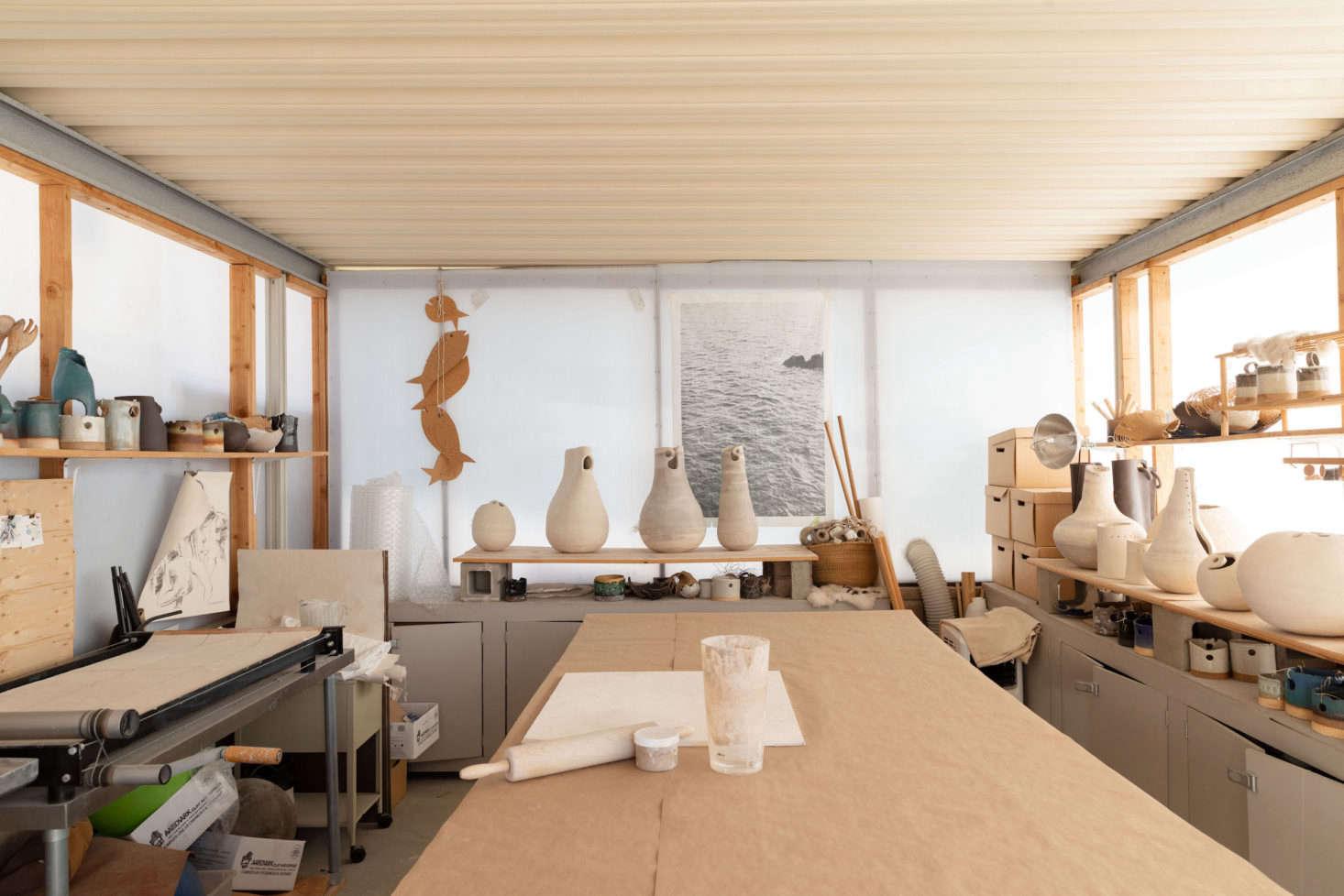 Wilkinson turned the garage into her studio.