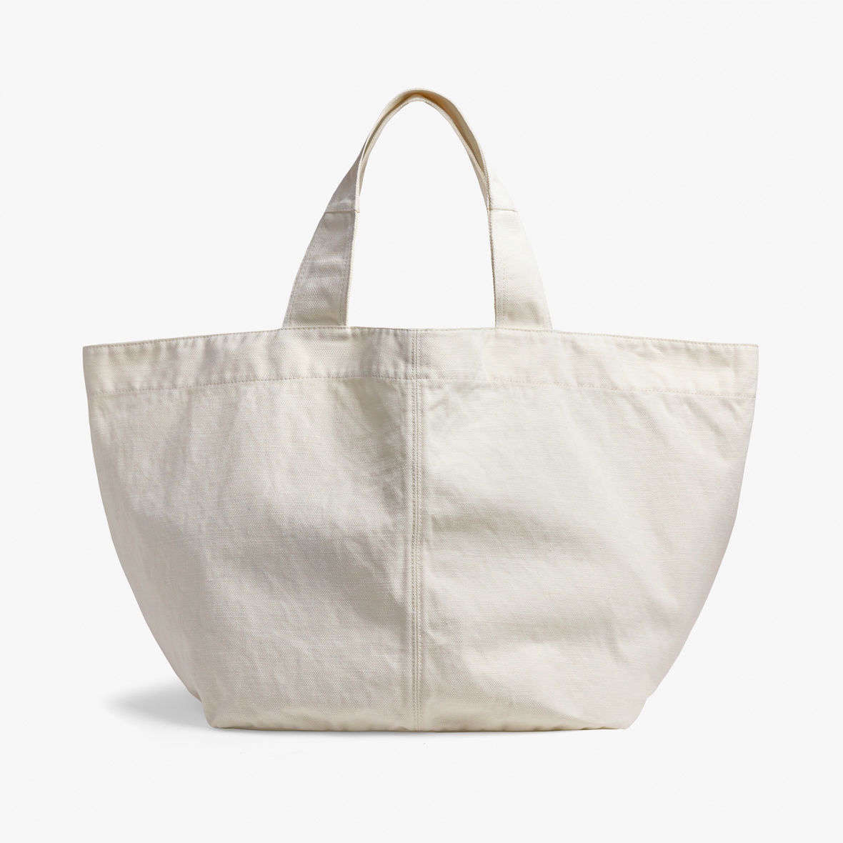 James Perse makes some of the chic-est versions we've seen. Their Loma  Slouchy Canvas Tote comes in two sizes (pictured is the large); from $250.