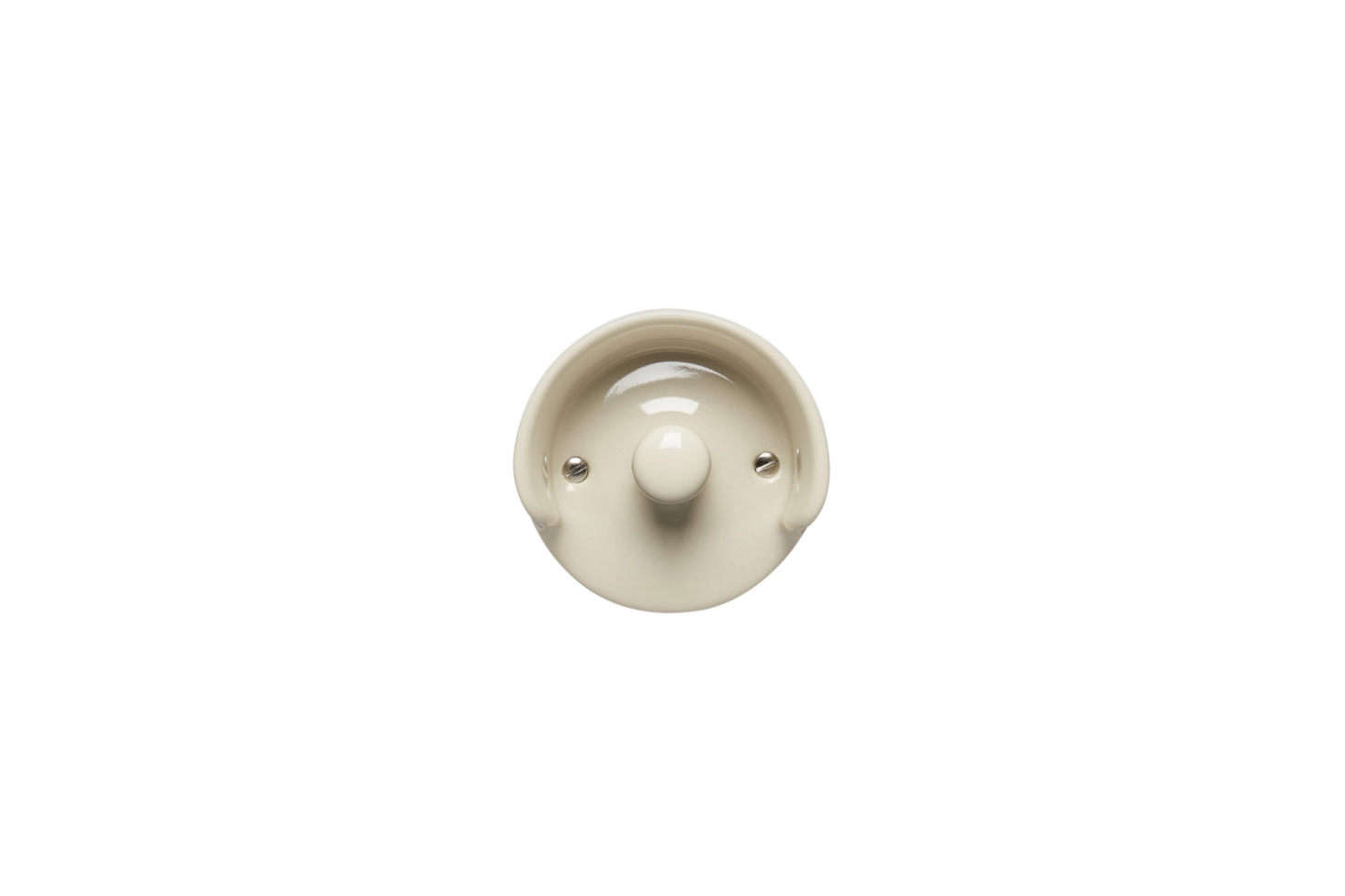 The Massproductions A01 Wall Hook in white, off white, or grey vitreous porcelain is $51 at A+R Store.