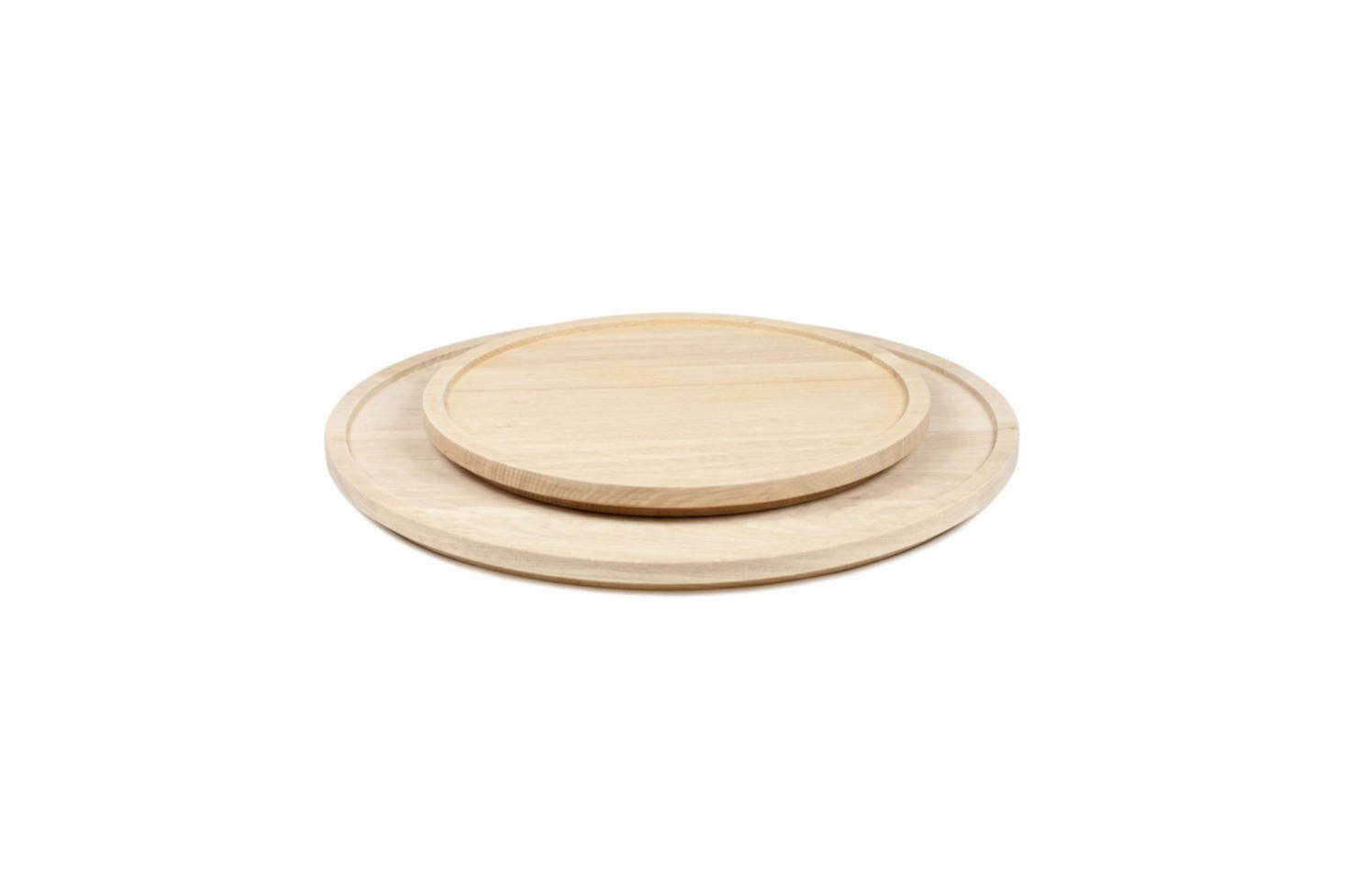 Designer Michaël Verheyden makes the Aperitivo Round Serving Trays in oiled oak for $0 to $
