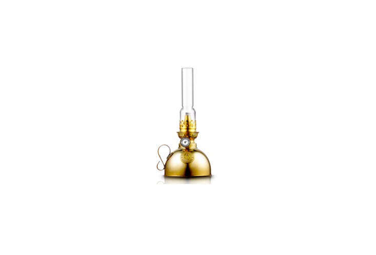 The Nattlampa Kerosene Lamp is modeled on the traditional paraffin lamps of the late 19th century; $132 at Royal Design.