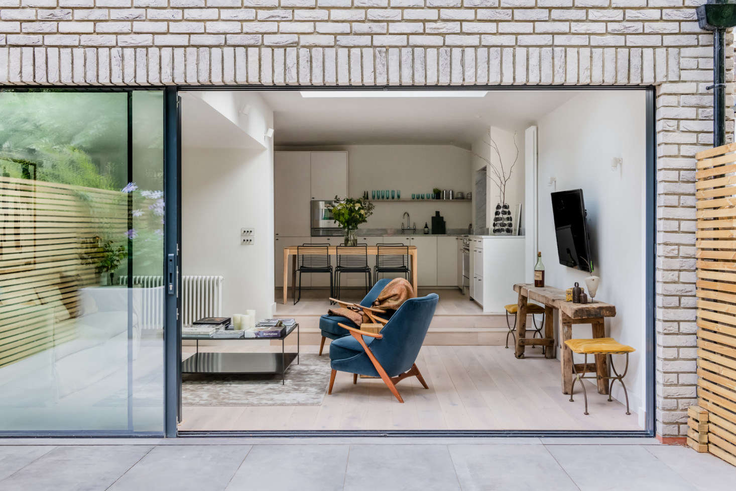 """""""Luckily for me, she gave me free rein to design the house,"""" says Olivia of her sister, a lawyer. """"She trusted me to source and design my own pieces. She loves the flat, and I think I've opened her eyes to being braver and more eclectic in her design style."""""""