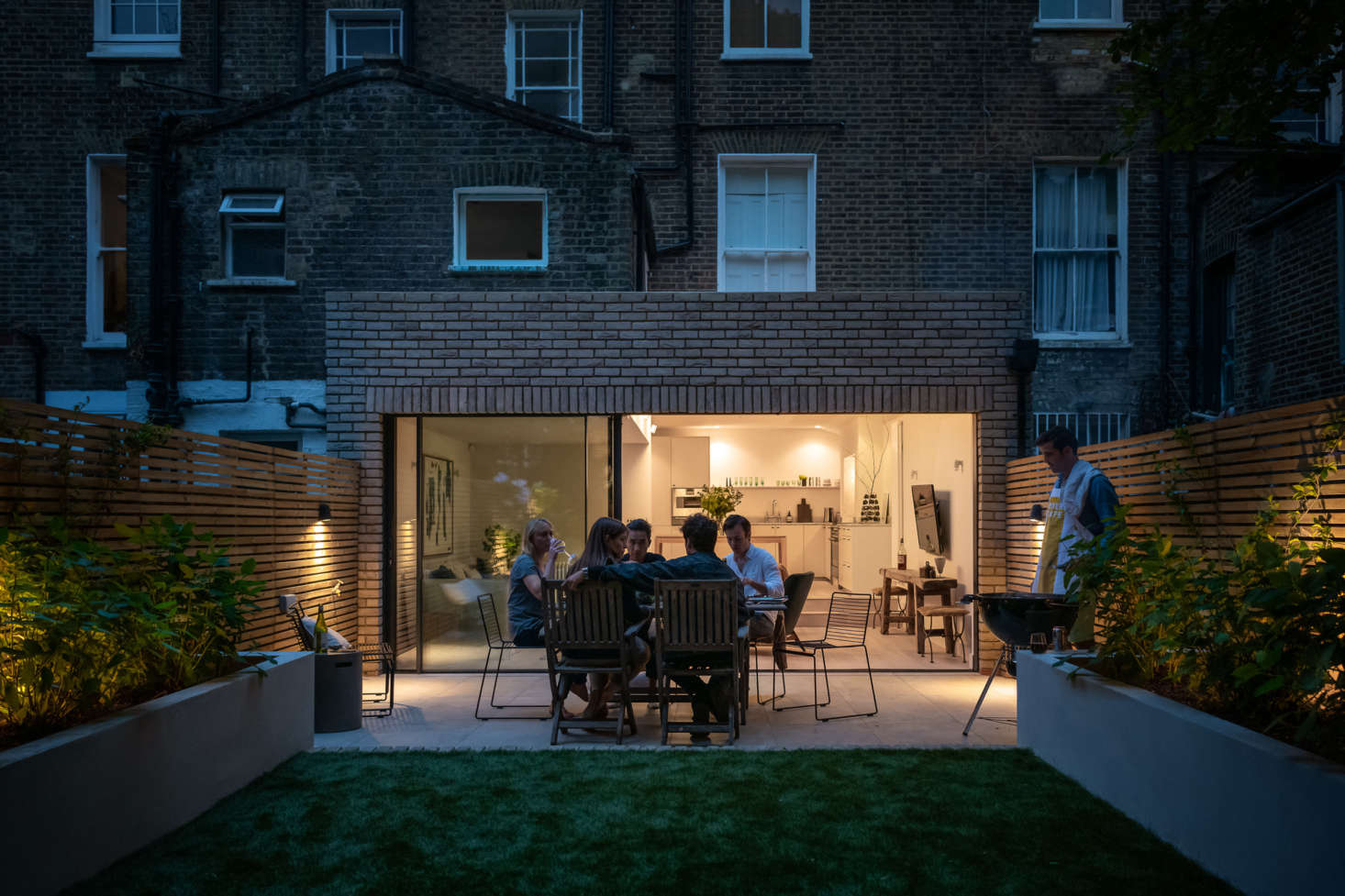 """""""My favorite time of day is at nighttime. When the garden lights are on and the living room/kitchen is dimmed down, it feels very moody and calming."""""""