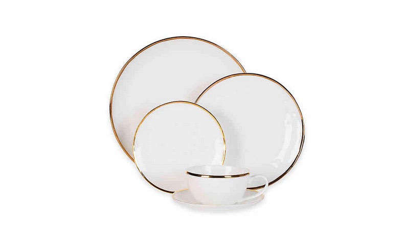 Olivia & Oliver's Harper Organic Shape Gold 5-Piece Setting at Bed Bath & Beyond is $69.99.