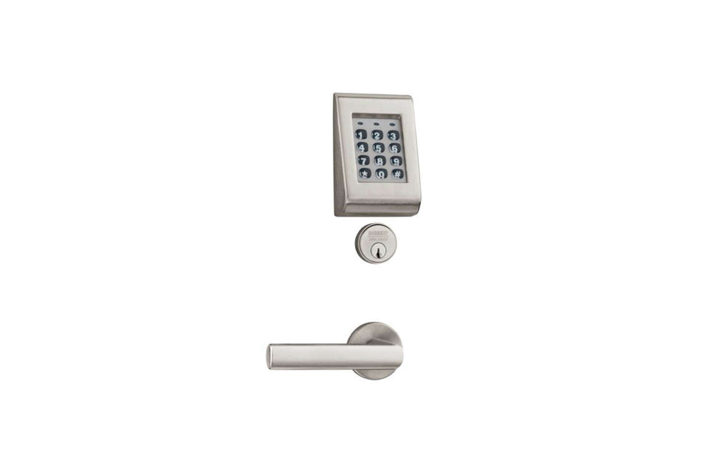 The Sargent Keypad  Line Cylindrical Lock Set (-KP-G77-LP-D) is made with a certified ANSI Grade data-src=