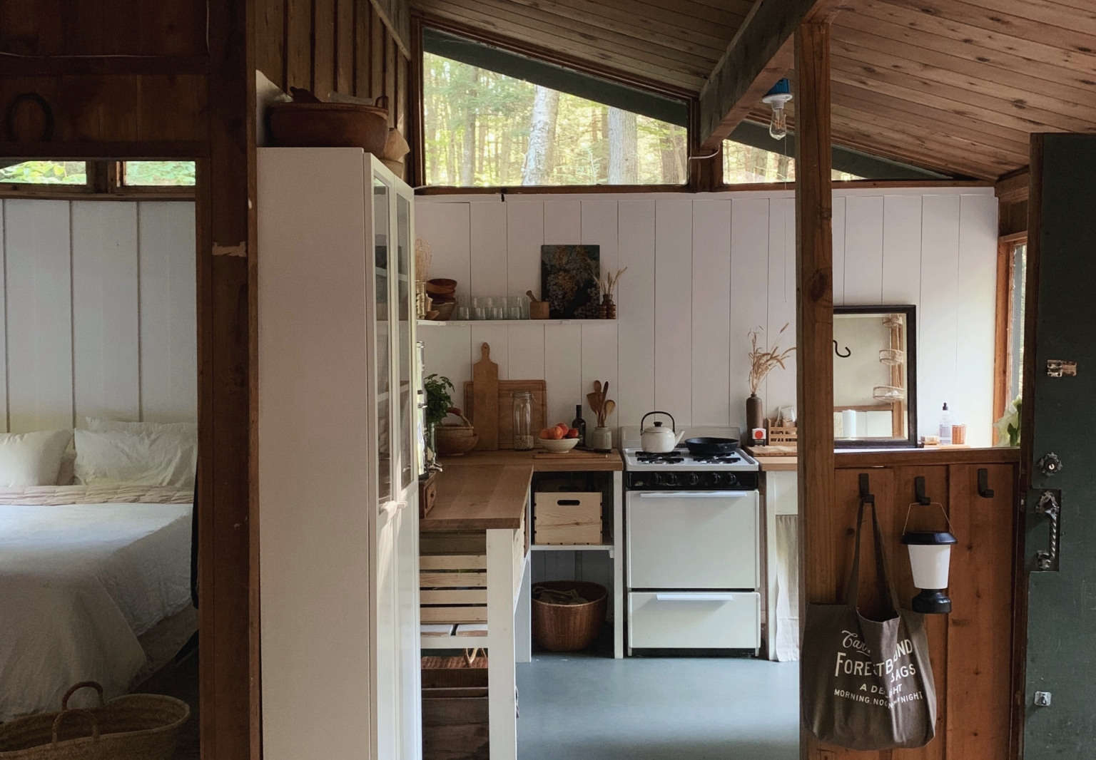 Unplugged: A Young Couple's DIY, Totally Off-the-Grid Cabin in the New Hampshire Woods
