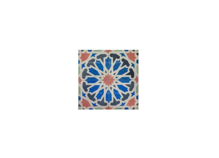 The Traditional Moroccan Cement Tiles are from Badia Design in North Hollywood.