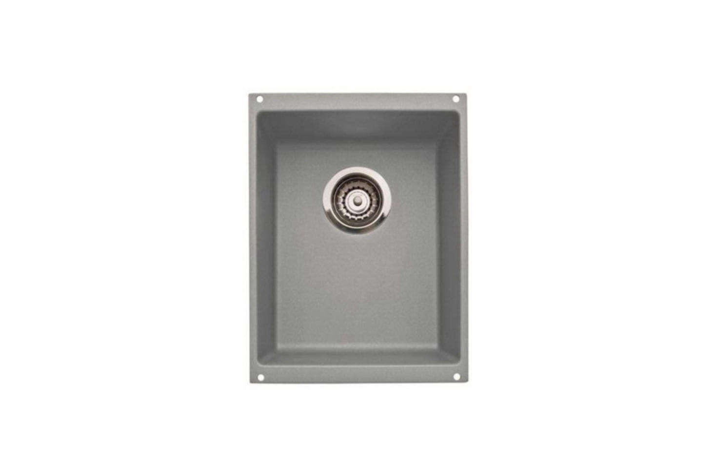 The Blanco Precision Undermount Bar Sink (B54) is available in 8 colors (shown in Metallic Gray) for $444.