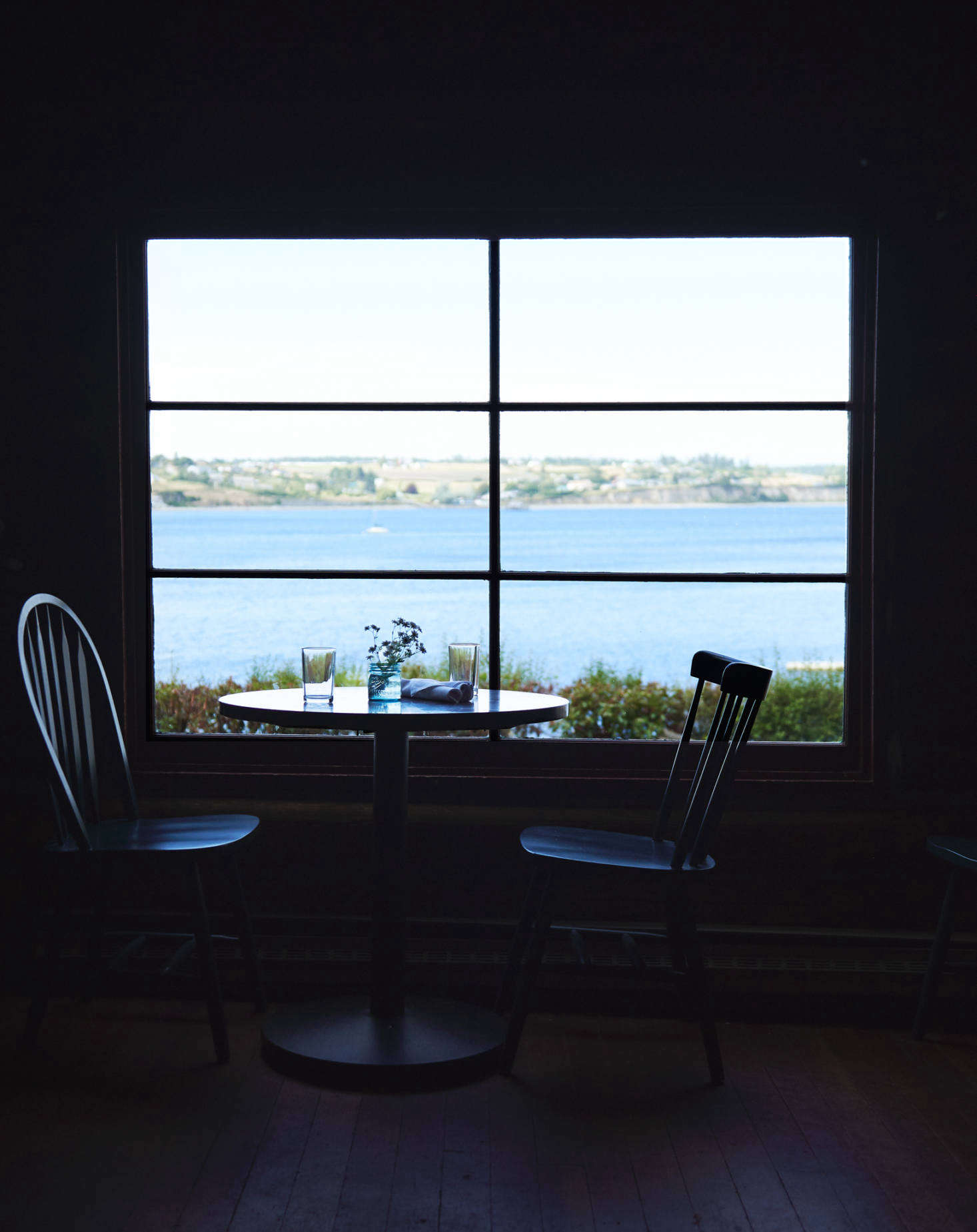 Diners have views of Penn Cove.
