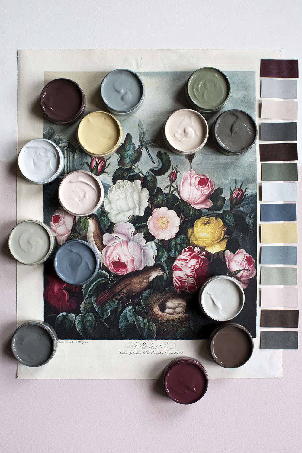 "London designer Cassandra Ellis has just launched a new palette of 14 colors she calls Human Natura. ""We created this palette in response to the deep connection between people, humanity and nature,"" Cassandra says. ""Their center of gravity is fixed by a deep respect for the past, connected to how we choose to live now and in the future. Quiet, emotive, and timeless"""