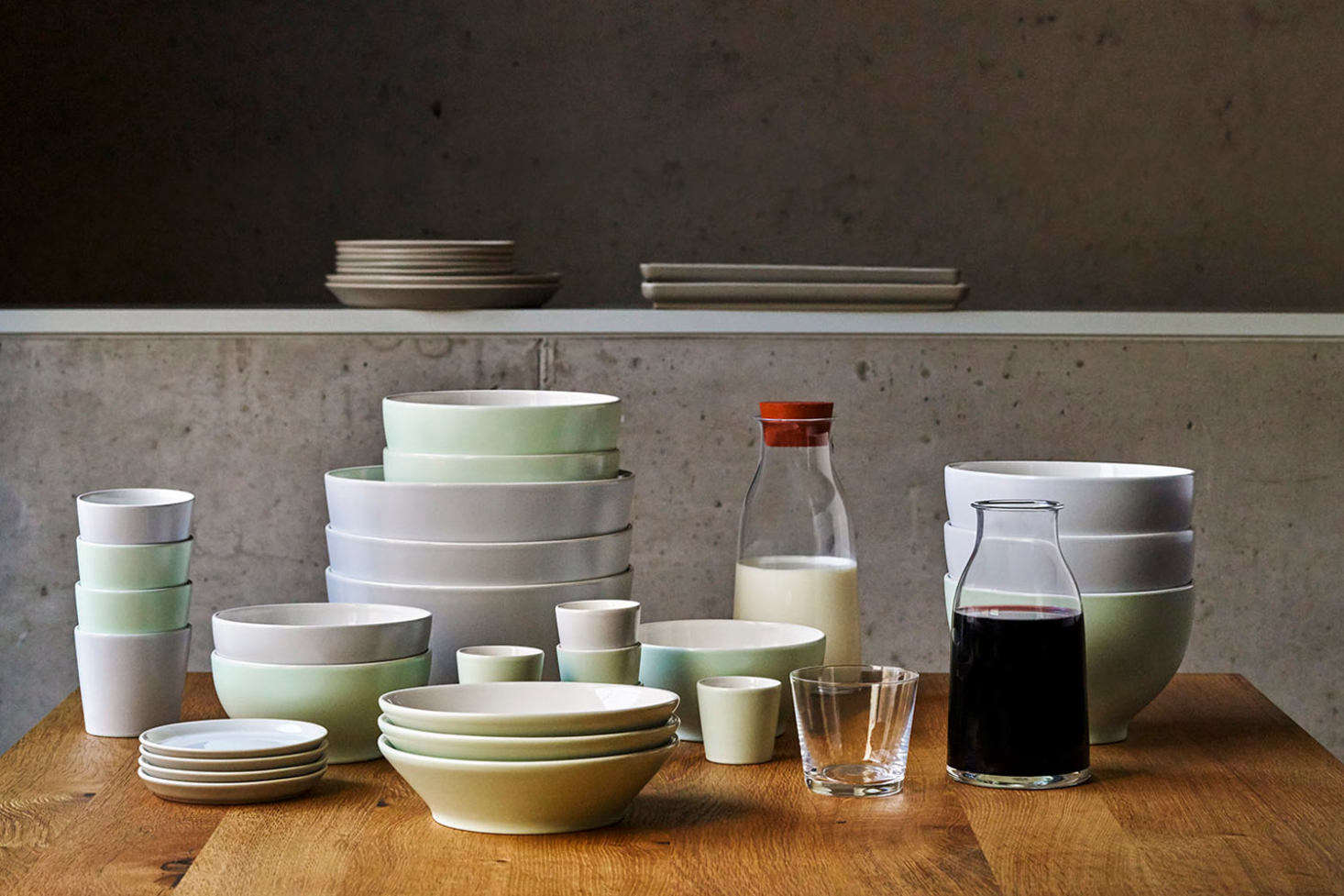 David Chipperfield Architects were inspired by ceramics from Korea, Japan, and China and the work of Giorgio Morandi when they designed the Tonale Tableware for Alessi from 2009 to 2018. The set comes in a range of colors, shown here, as well as black and white. Each piece is available individually from $16 to $96 at Alessi.