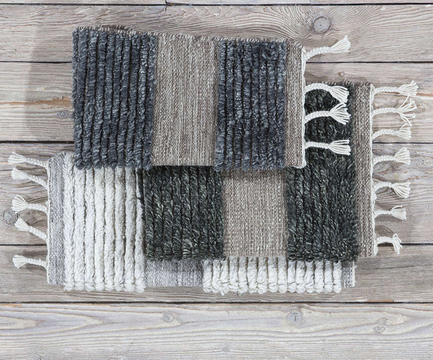 The collection is also available in cooler shades of charcoal and subtle indigo.