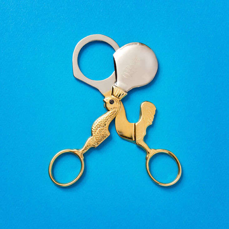 These nickel-plated steel Egg Scissors made in the Italian village of Premana—where there are nearly 0 cutting-tool companies in a town of