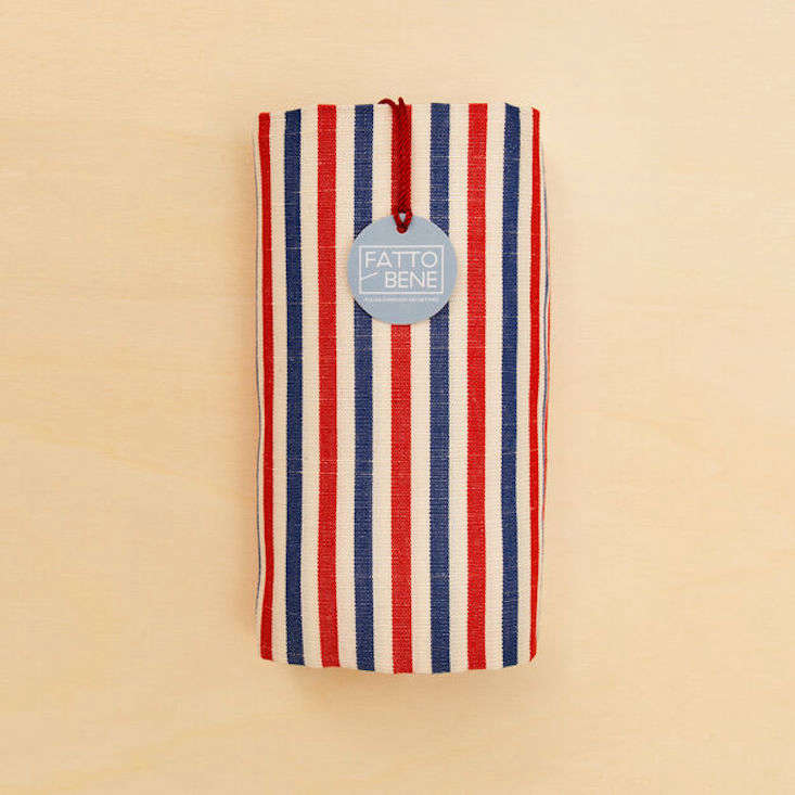The linen and cotton Traditional Striped Towel is available in three colorways; $src=