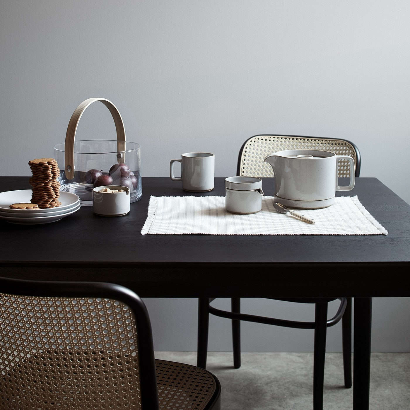 The classicHarami Porcelain collection at Unison Home.