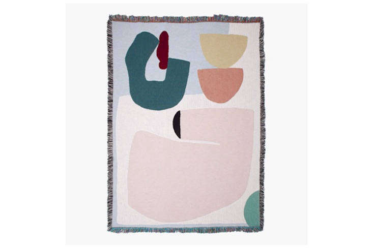 Slowdown Studio currently carries  artist-designed blankets. This one, the Arthur Throw, is by East London-based textile designer and artist Laurie Maun; $0.