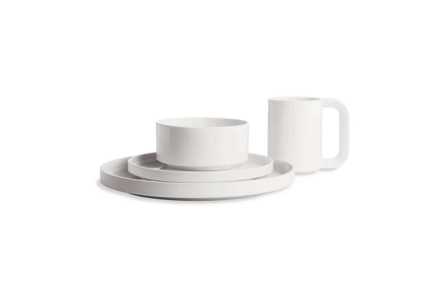 While we rarely advocate for non-natural materials, architects Massimo and Lella Vignelli's Stackable Dinnerware in melamine resin deserves a mention. Designed in 1964, the set has a timelessness and has been reimagined in a range of colors. (Because it's in melamine, it's great for outdoor dining and picnics.) The Stackable Dinnerware Dinner Plate is $12, Stackable Dinnerware Soup Bowl is $10, and the Stackable Dinnerware Salad Plate is $10 at the MoMA Design Store.