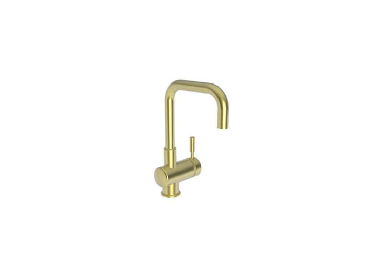 The East Square Bar Faucet in the aged brass finish is $src=