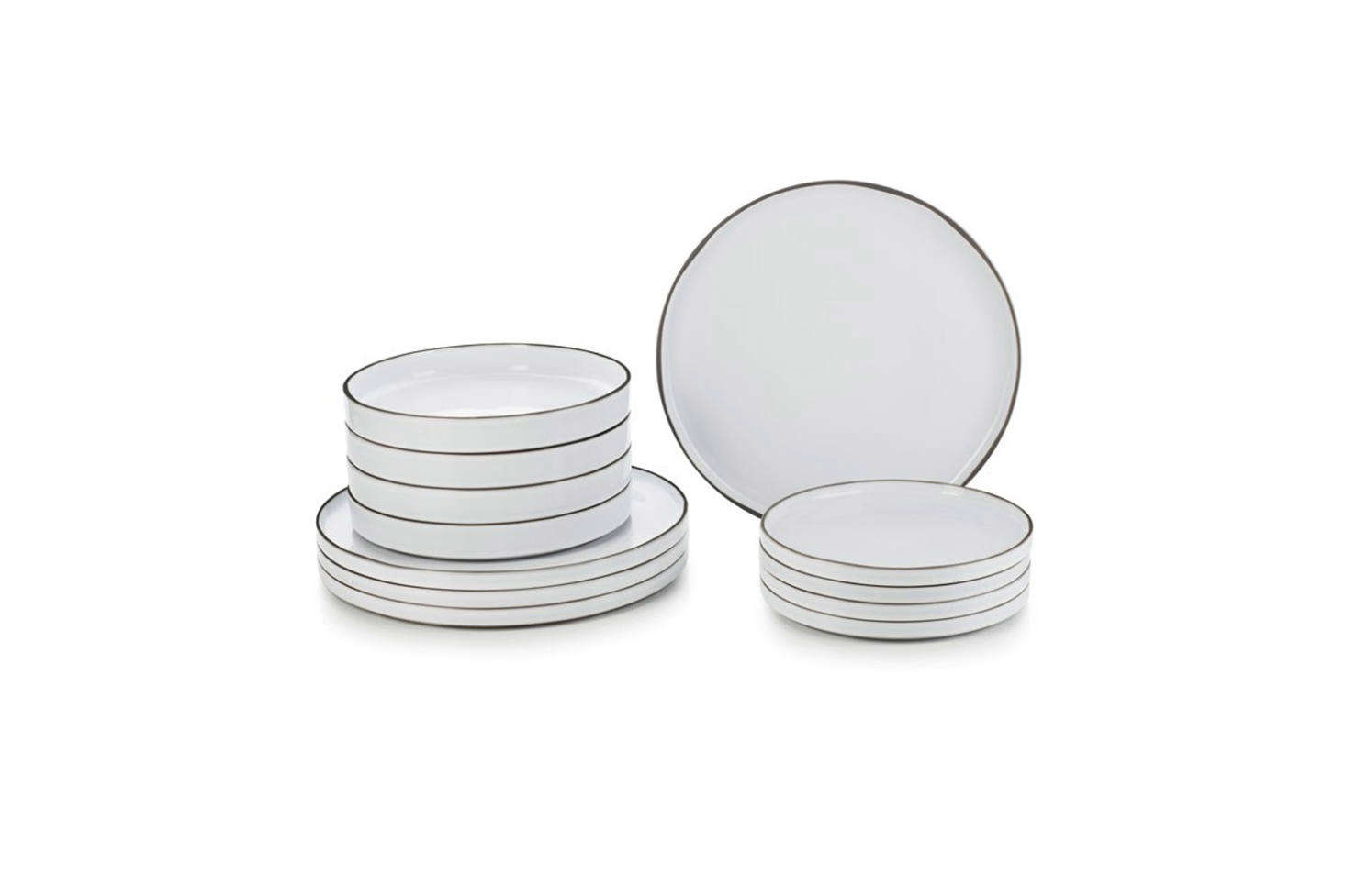 A new line from Revol called Caractereis designed by French architect Noé Duchaufour-Lawrance. The set is inspired by daily life in the Drôme countryside with an unglazed rim (making the plates more resistant to shock) and stackable design. The White Cumulus Dinnerware Set of 12 Pieces is $500 at Revol.