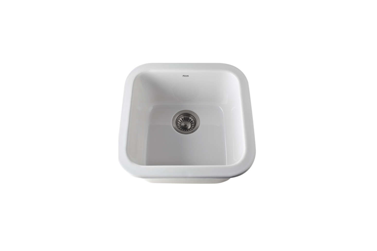 The Rohl Allia Undermount Bar Sink (R5900) in White (shown), Biscuit, and Matte Black from $6. to $860.49 at Ferguson.