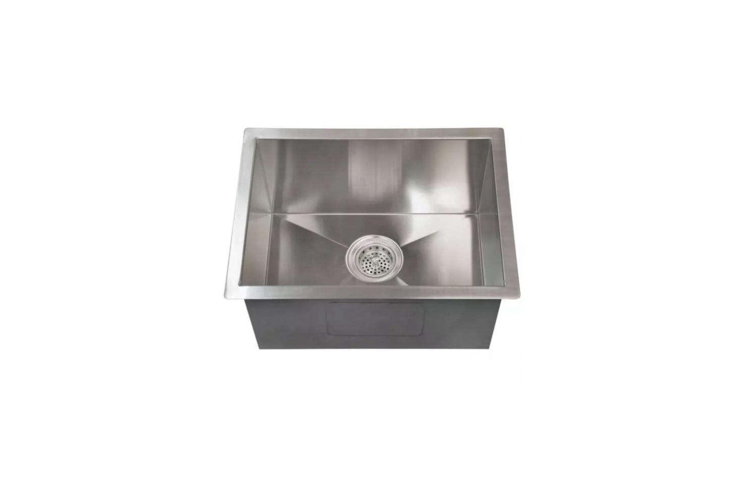 The Signature Hardware Executive Zero-Radius Stainless Steel Undermount Sink is $9.