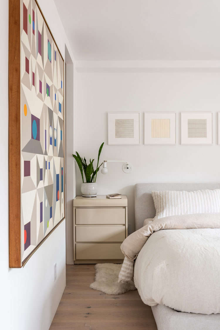 The Nest Storage Bed is by Niels Bendtsen for Design Within Reach. The walls on the lower floor are painted Farrow & Ball&#8