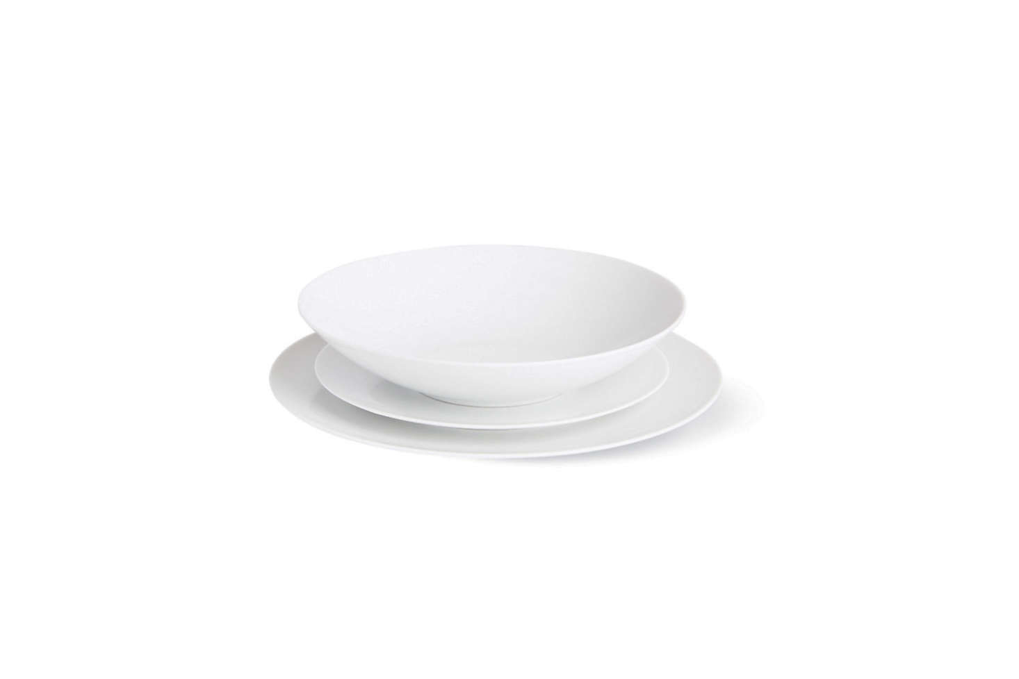 In 1967, Bauhaus architect Walter Gropius designed a tea set in simple, wear-resistant porcelain for Rosenthal. Two years later, the set was expanded into a full dinnerware line from Gropius's drawings called TAC 02 Dinnerware. It is minimal, geometric, and made in Germany: Bauhaus in every way. The 18-piece set is $595 at Design Within Reach.