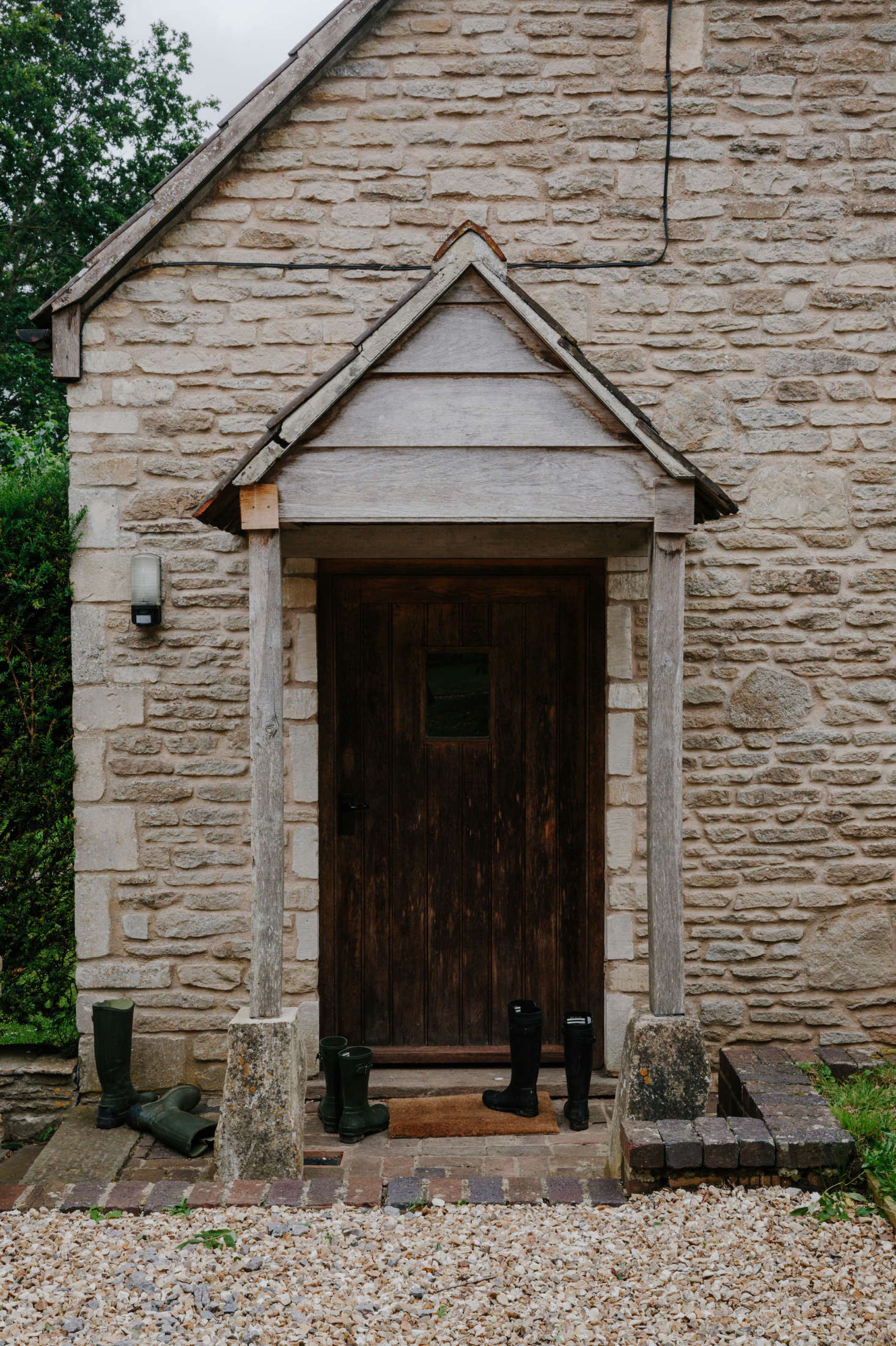 The entrance to the Baby Cottage, situated next to Whitehall, which sleeps two guests in a snug loft.